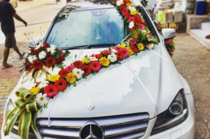 Mercedes Benz Car rental service for wedding in Dhaka, Bangladesh