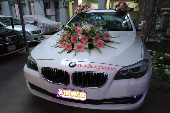 Luxurious BMW Car Hire service available for Wedding Reception in Dhaka