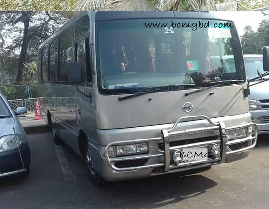 Get Monthly Ac Mini Bus Rental for Office Transport in Kalabagan Dhaka