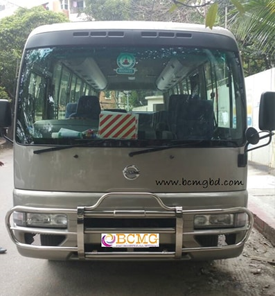 Get Monthly Ac Mini Bus Rental for Office Transport in Mirpur Dhaka