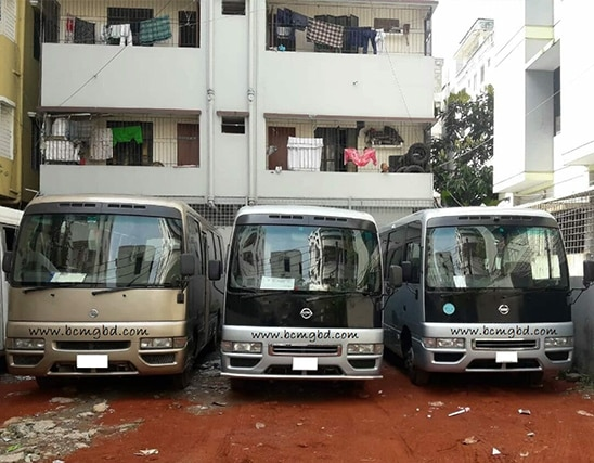 Get Monthly Ac Mini Bus Rental for Office Transport in Tongi Dhaka