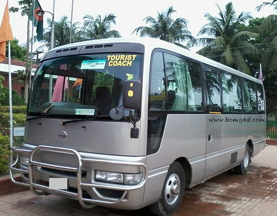 Get Monthly Ac Mini Bus Rental for Office Transport in Baridhara Dhaka