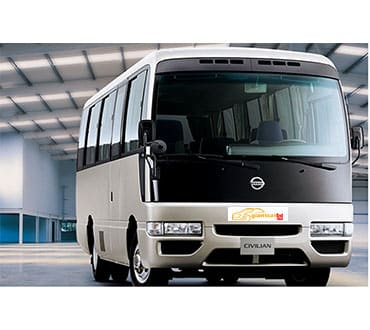 Giant car provide AC Minibus rental service in Rupnagar Dhaka