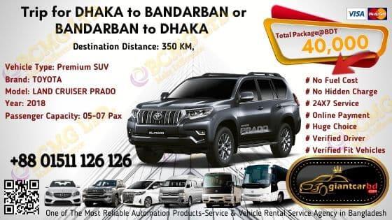 Dhaka To Bandarban (Land Cruiser Prado)