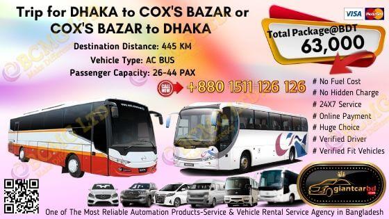 Dhaka To Cox's Bazar (AC Bus)