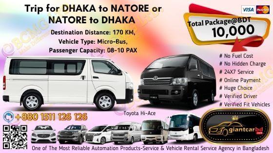 Dhaka To Natore (Toyota Hi-Ace)